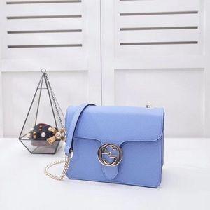 d8c02c3447f Gucci Bags | Bn Interlocking G Buckle Leather Bag 510304 | Poshmark